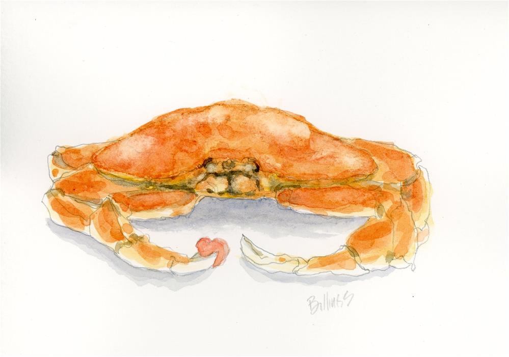 """Crabby Heart"" original fine art by Susanne Billings"