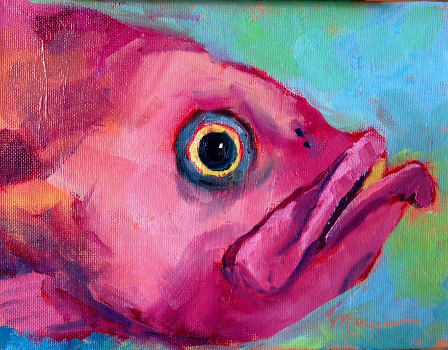 """This Fish Just Wants to Have Fun"" original fine art by Marcia Hodges"