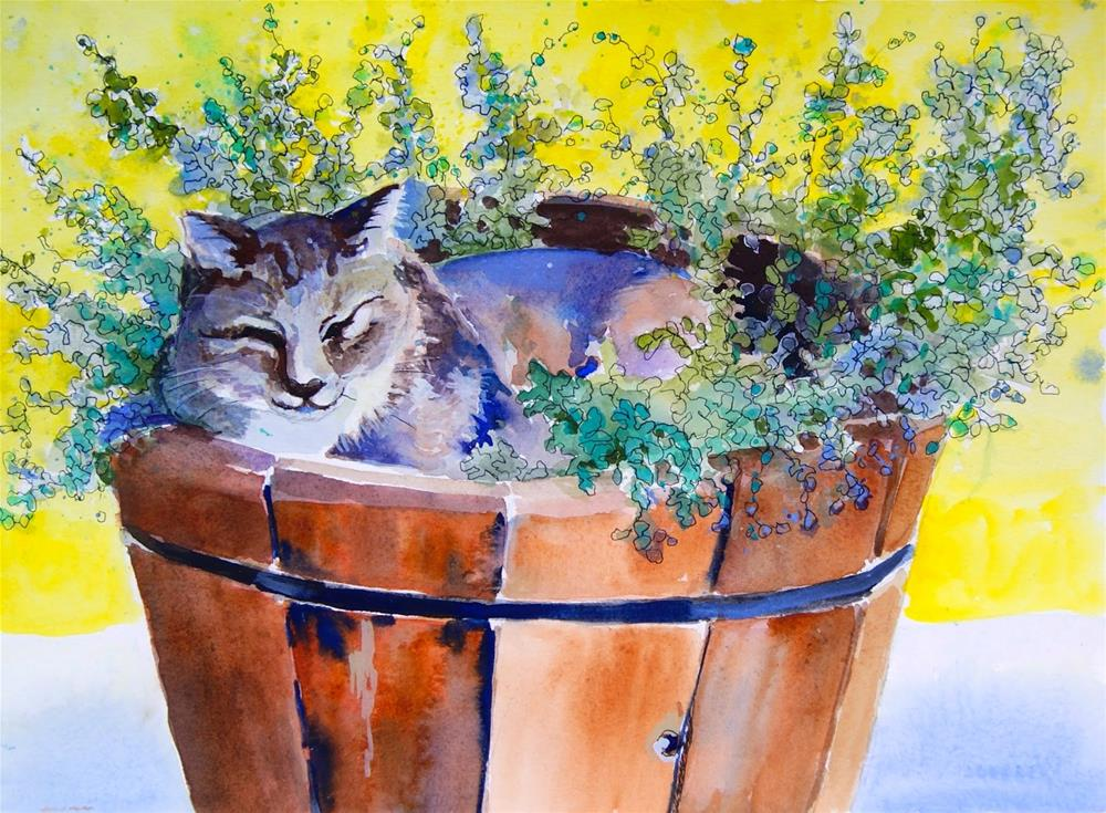 """Bucket Full of Sunshine"" original fine art by Reveille Kennedy"
