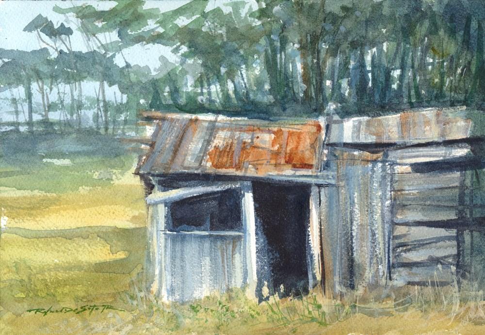 """Country Shack"" original fine art by Rafael DeSoto Jr."