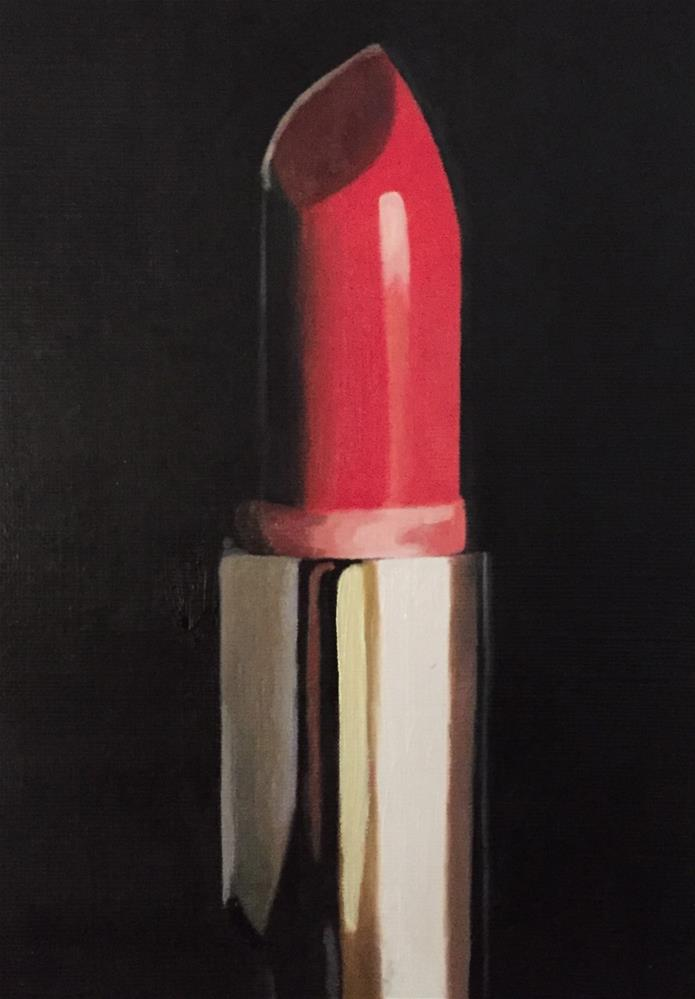 """Red Lipstick"" original fine art by John Cameron"