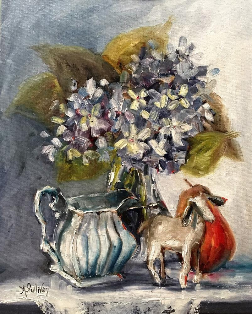 """Baa Baa Black Sheep still life painting by Alabama Artist Angela Sullivan"" original fine art by Angela Sullivan"