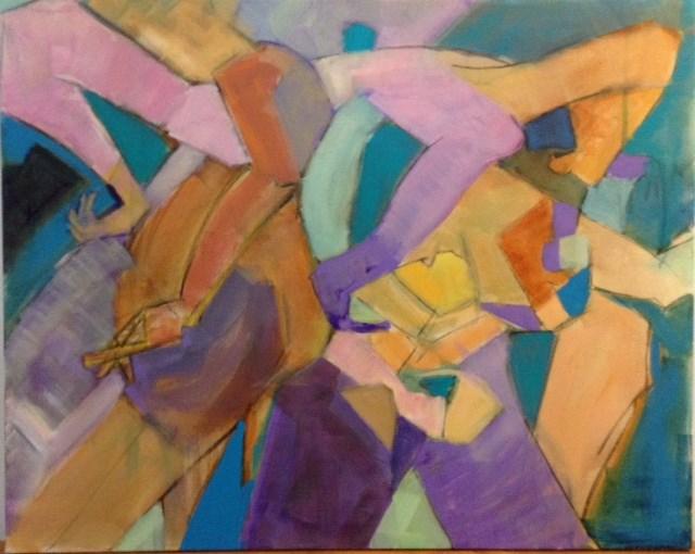 """Figures in Motion"" original fine art by Carol Wiley"