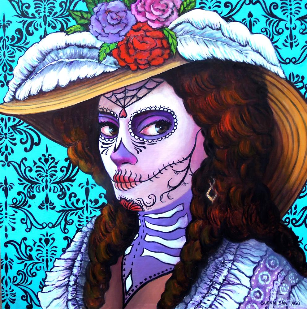 """""""Dia de Los Muertos"""" original fine art by Susan Santiago"""