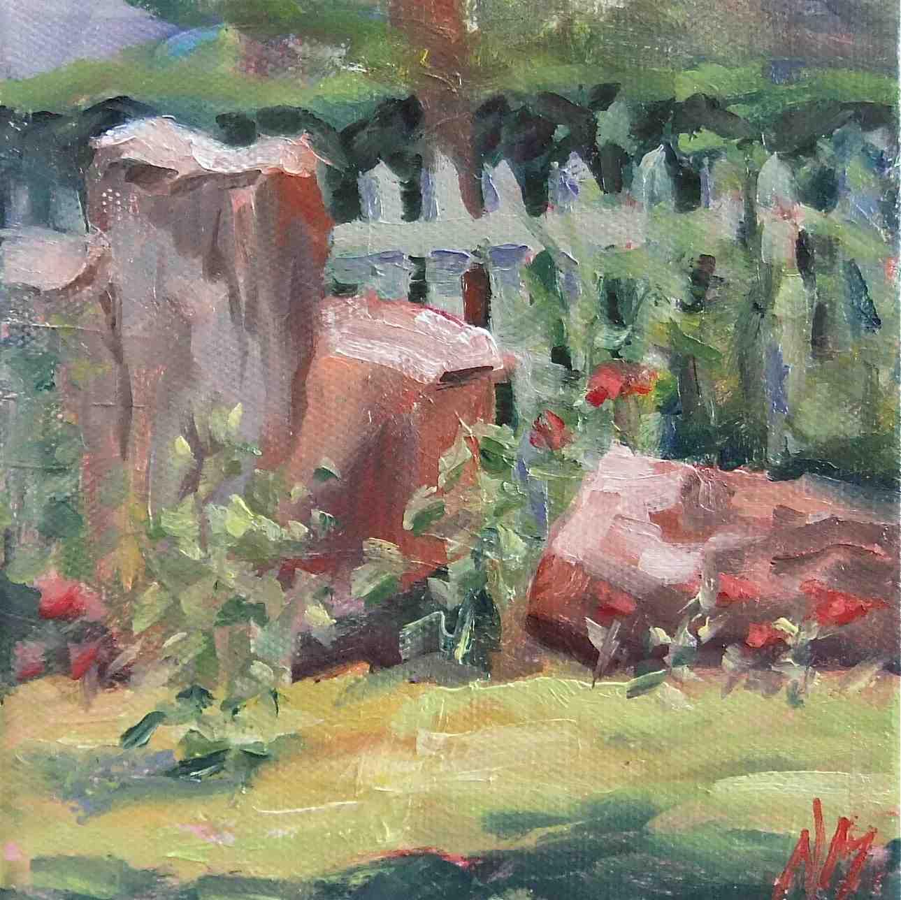 """be stumped"" original fine art by Nora MacPhail"