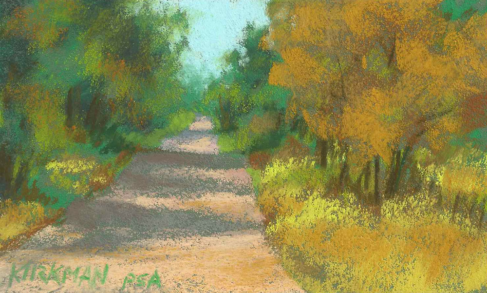 Road Sketch 24 original fine art by Rita Kirkman