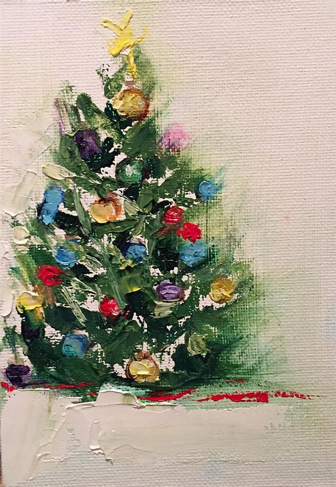 """Oh Christmas Tree, Oh Christmas Tree"" original fine art by Marcia Hodges"