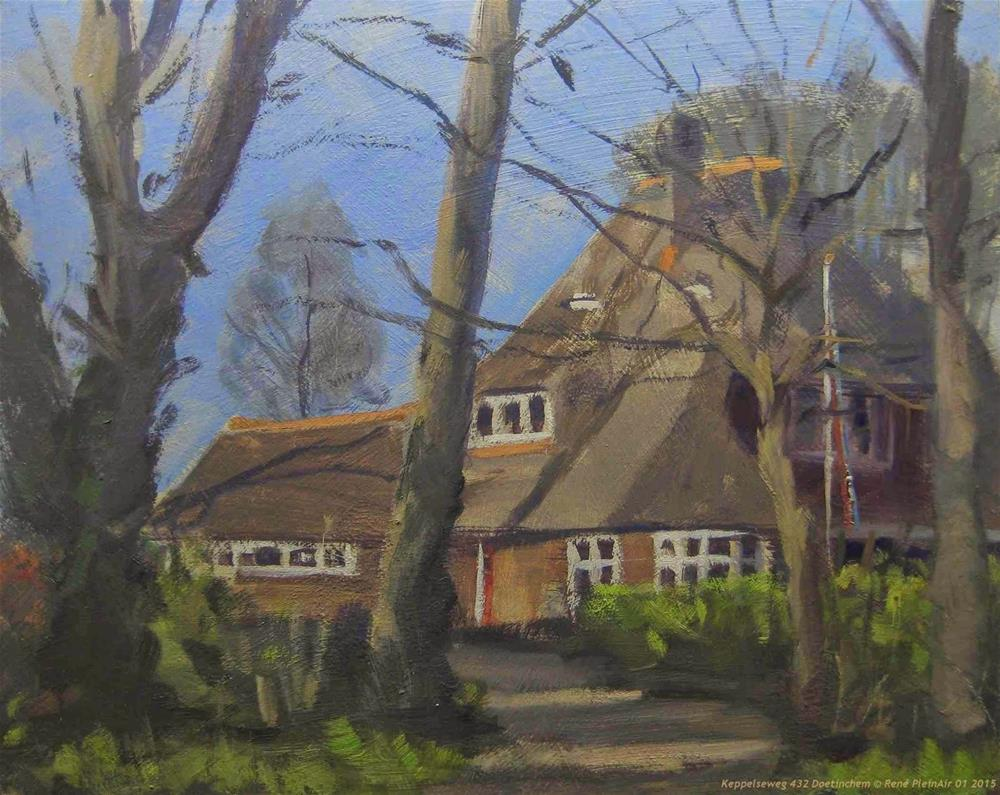 """Keppelseweg 432 Doetinchem The Netherlands"" original fine art by René PleinAir"