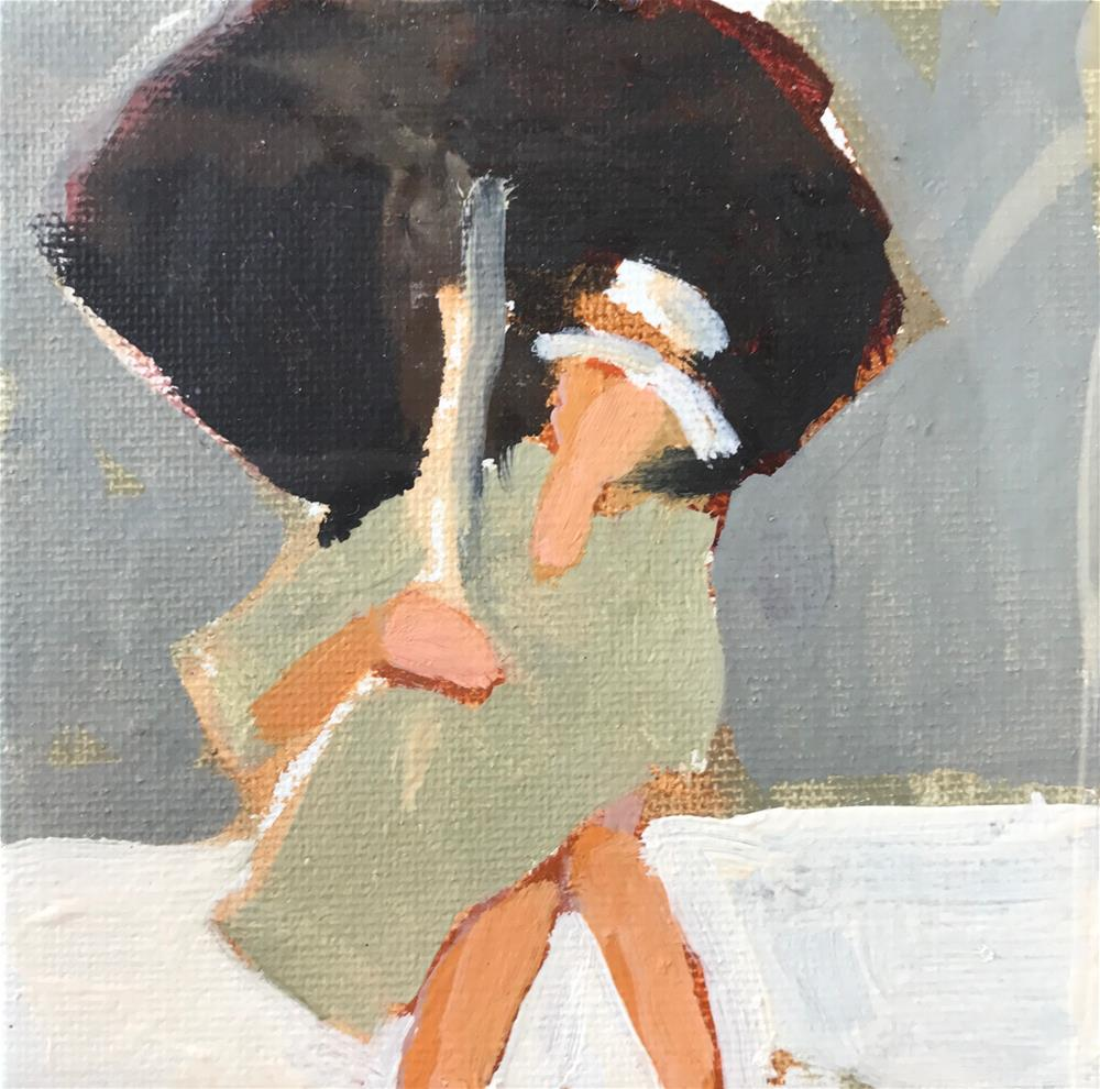 """Warm Greys, Three Values Clearly"" original fine art by Pamela Hoffmeister"