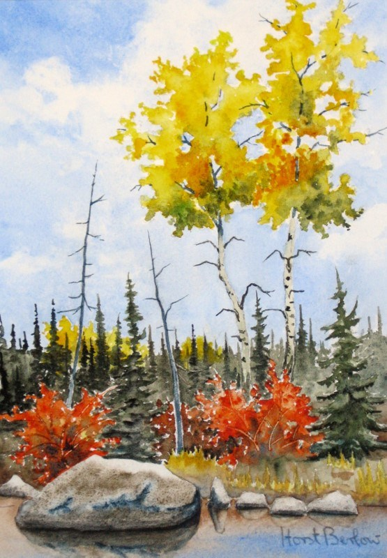 """Fall Colours"" original fine art by Horst Berlow"