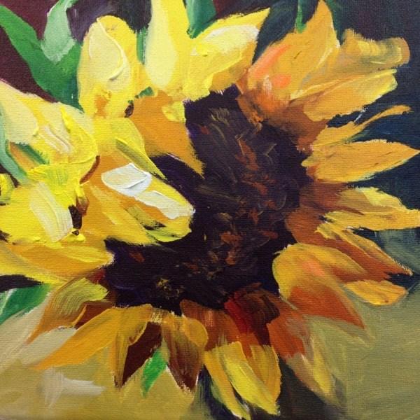 """""""Sunflower"""" original fine art by Val Mouttet"""