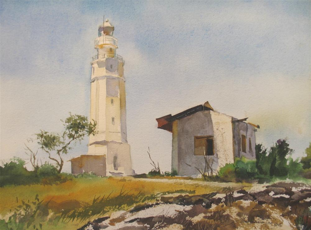 """Lighthouse in Cebu, Philippines"" original fine art by Ann Buenaventura"