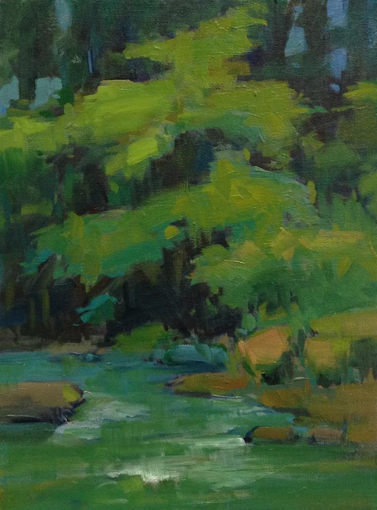 """Row River Greens"" original fine art by Patti McNutt"