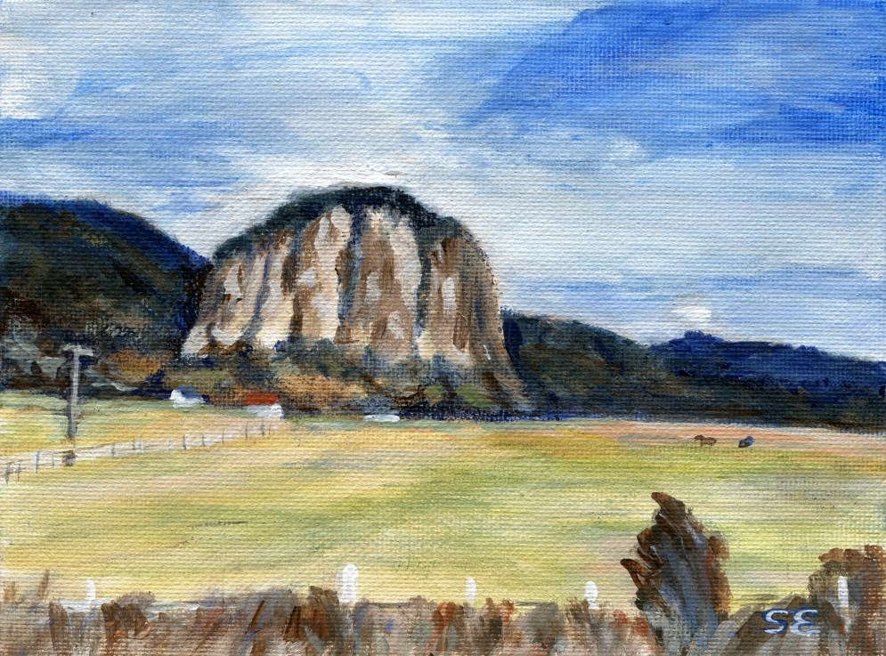 """""""Aysen, Chile, and A Big Rock"""" original fine art by Stanley Epperson"""