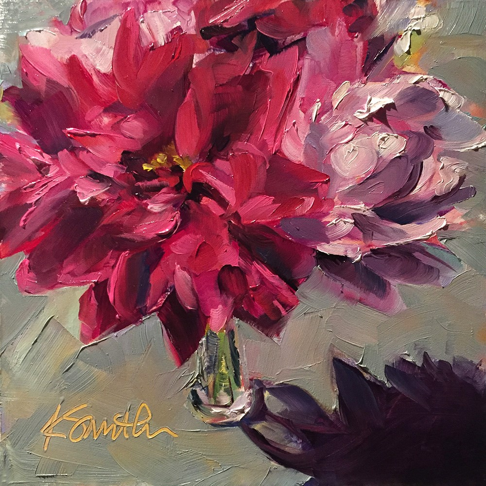 """peonies"" original fine art by Kim Smith"