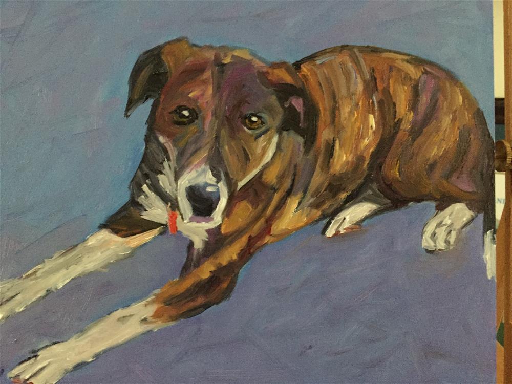 """Portrait of Bella"" original fine art by Liz Zornes"