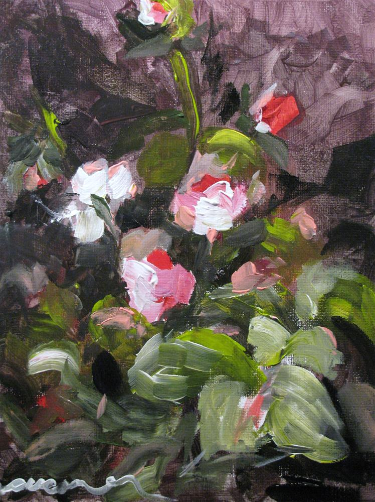 """Miniature Roses"" original fine art by Susan Elizabeth Jones"