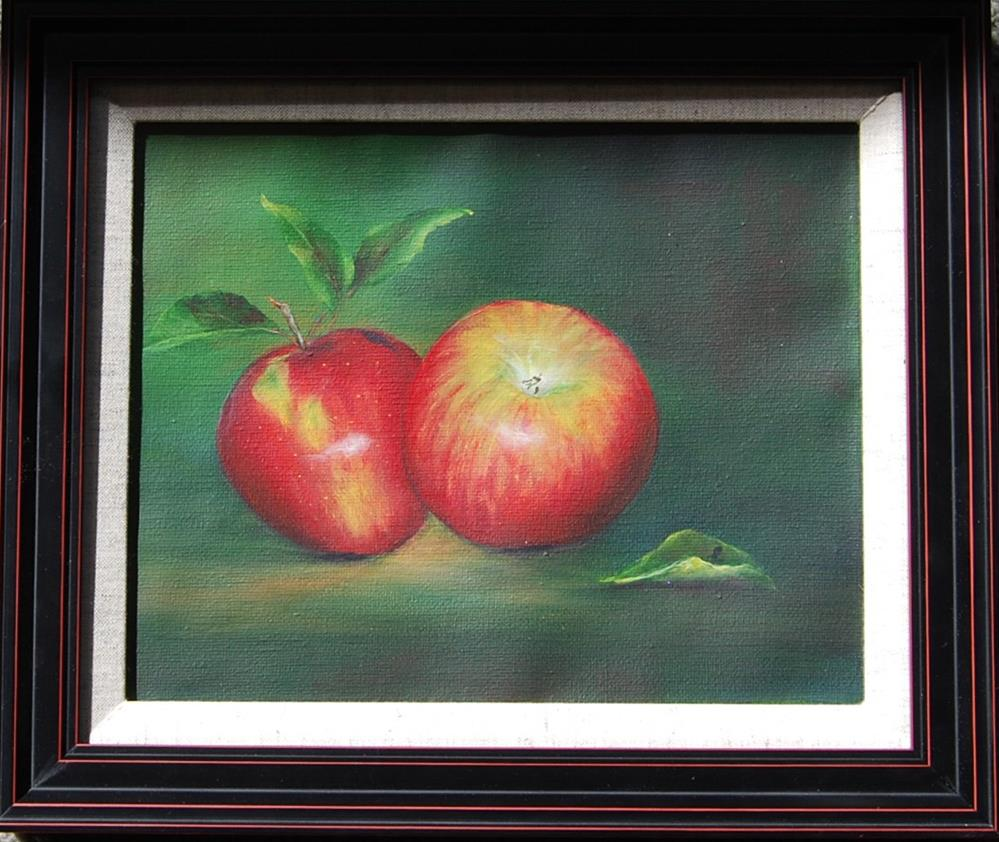 """A Pair of Apples "" original fine art by Maureen Baker"