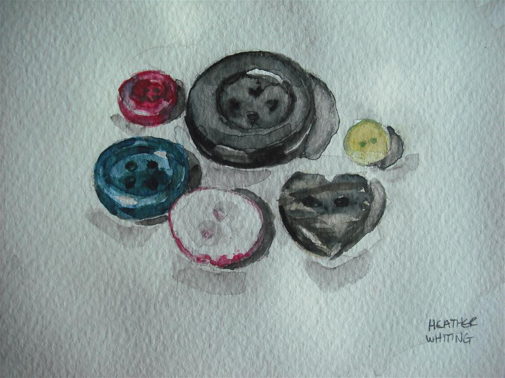 """Loose Buttons"" original fine art by Heather Whiting"