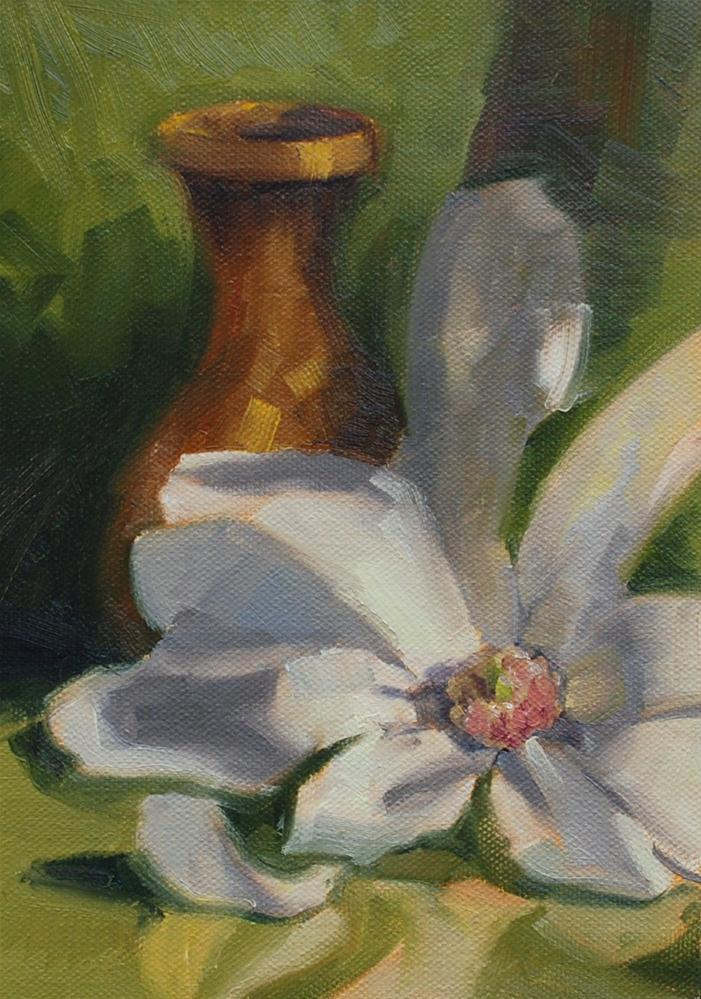 """Elizabeth's Flower"" original fine art by Susan McManamen"