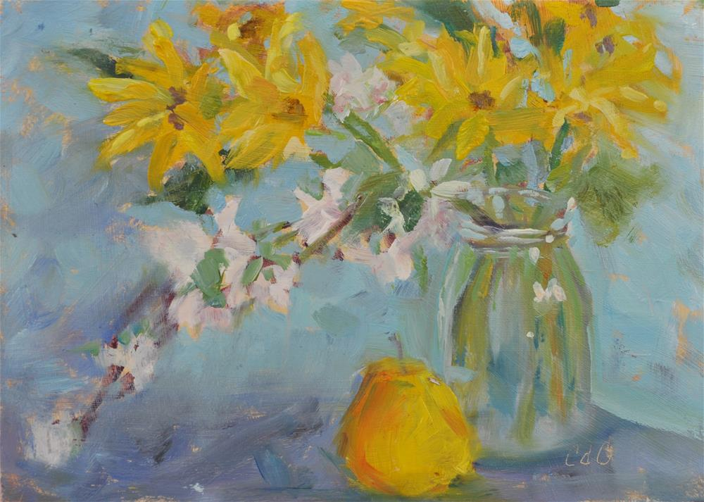 """Flower Arrangement"" original fine art by Catherine Crookston"