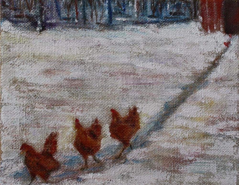 """Chicken Dance 2"" original fine art by Maggie Flatley"