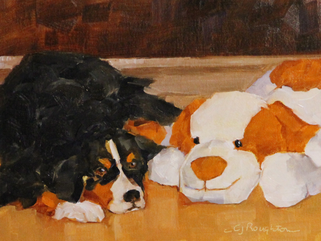 """Hugs"" original fine art by C J Roughton"