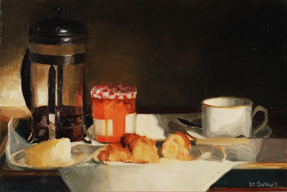 """""""Breakfast Tray"""" original fine art by Liz Balkwill"""