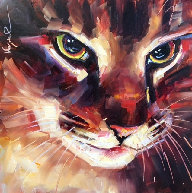 """WHISKERS"" original fine art by Olga Wagner"