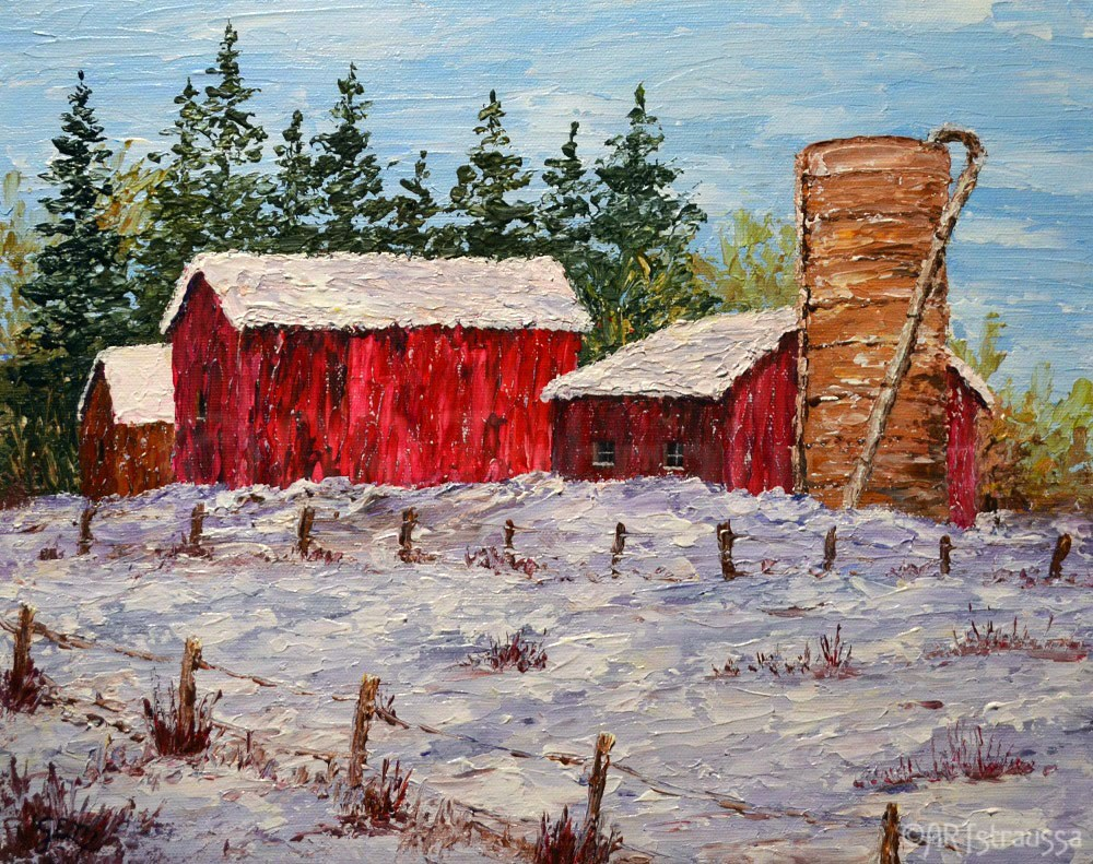 """Winter Life In Ontario"" original fine art by Gloria Ester"