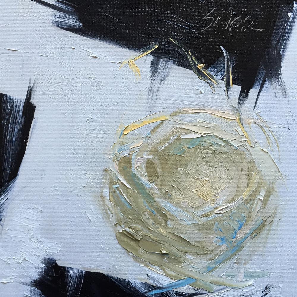 """""""Bird Nest, Day 25"""" original fine art by Connie Snipes"""