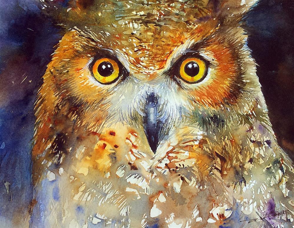 """Night Owl"" original fine art by Arti Chauhan"