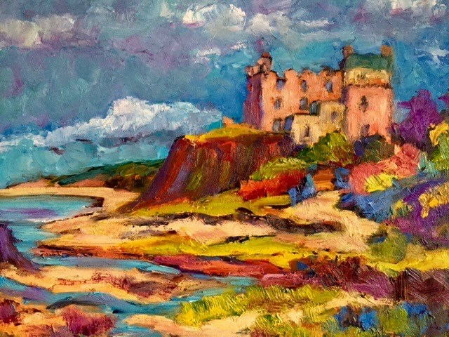 """Dunvegan Castle, Isle of Skye"" original fine art by Liz Zornes"