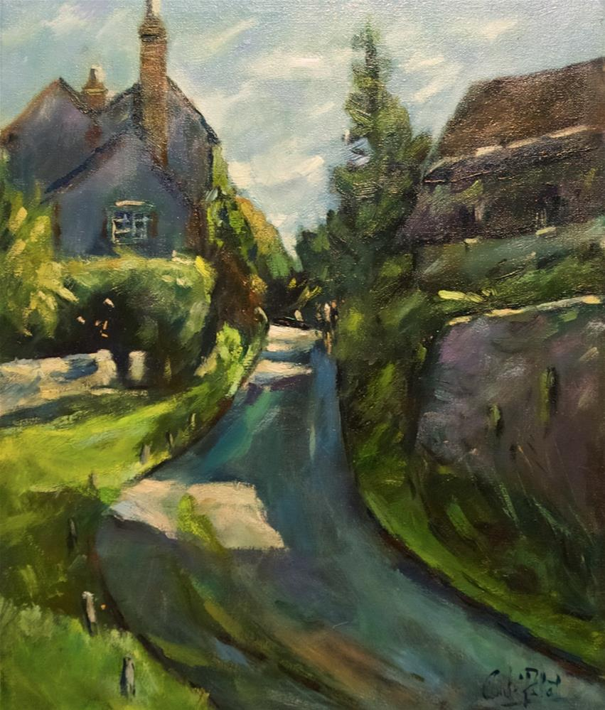"""Lane at Amberley"" original fine art by Andre Pallat"