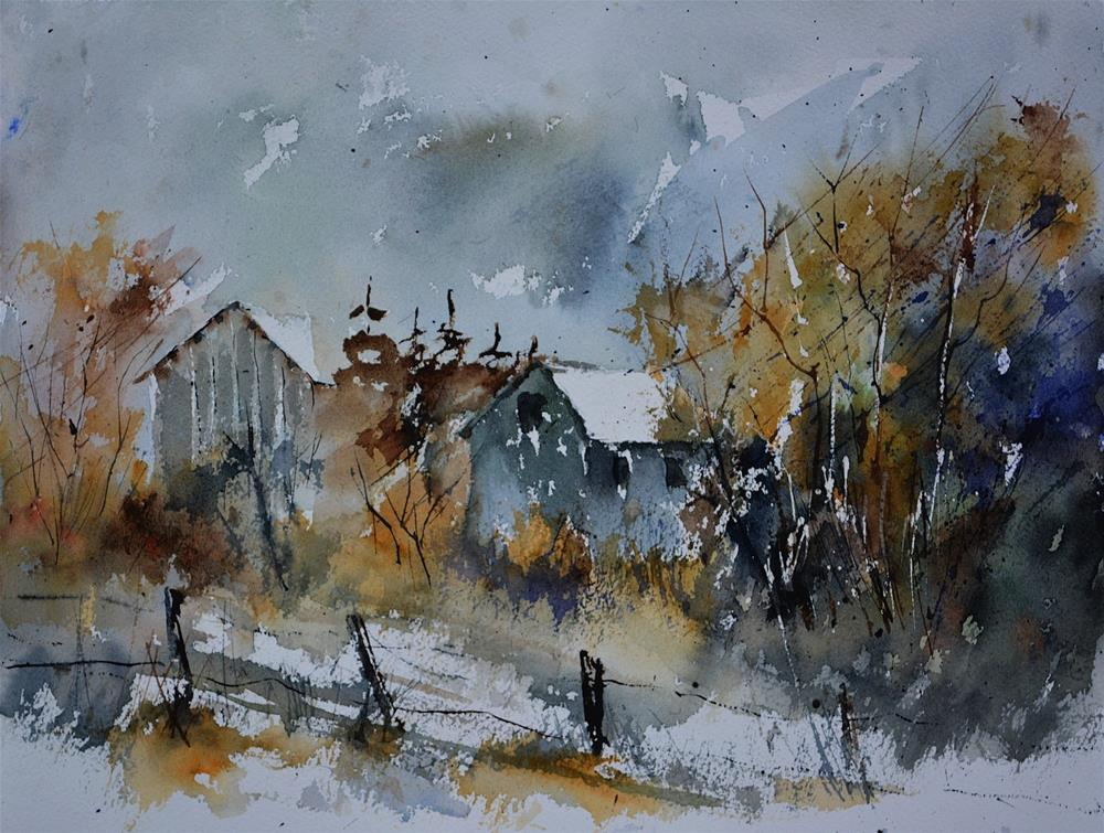 """watercolor 512122"" original fine art by Pol Ledent"