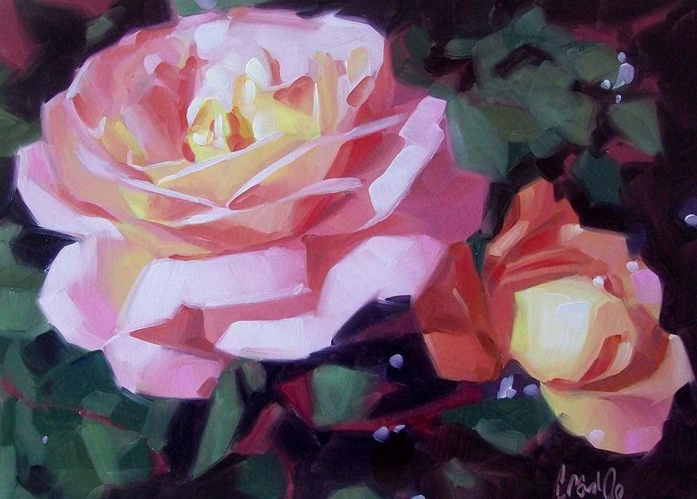 """Garden roses"" original fine art by Brandi Bowman"
