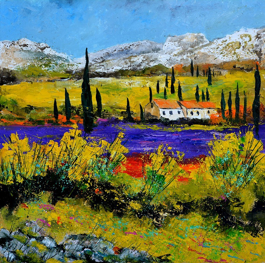 """Provence 885120"" original fine art by Pol Ledent"