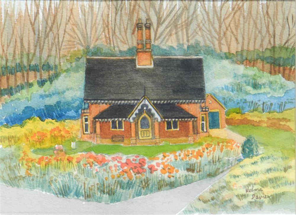 """English Cottage 4"" original fine art by Velma Davies"