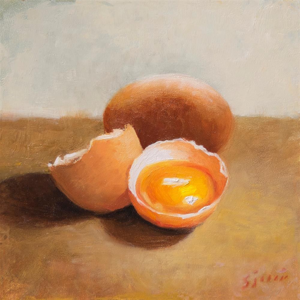 """""""Cracked"""" original fine art by Susan N Jarvis"""