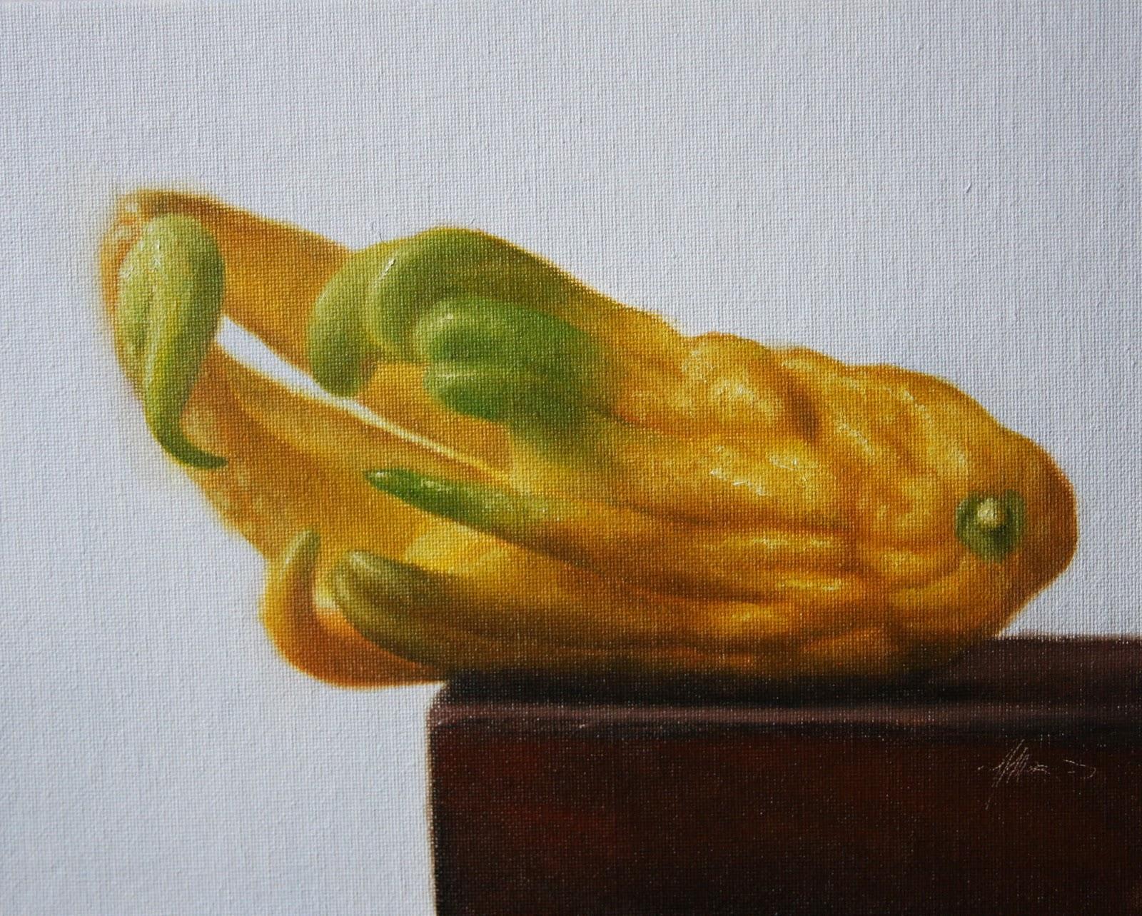 """""""Buddha's Hand Citron"""" original fine art by Jonathan Aller"""