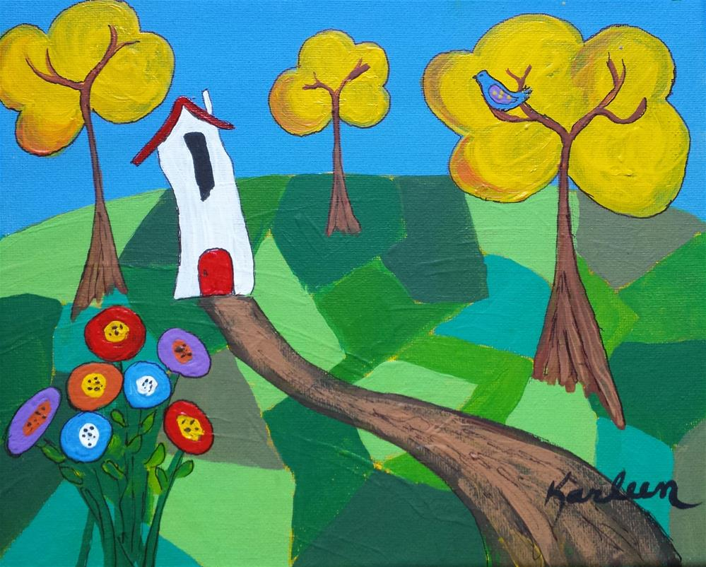 """The House in the Forest"" original fine art by Karleen Kareem"