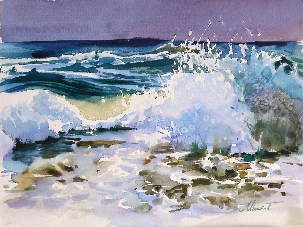 """ocean water 2"" original fine art by Beata Musial-Tomaszewska"