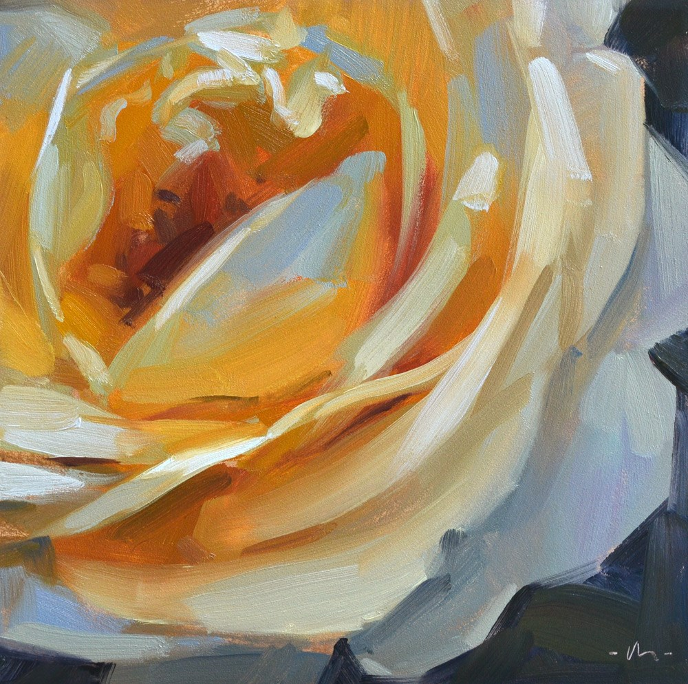 """Complimentary Rose"" original fine art by Carol Marine"
