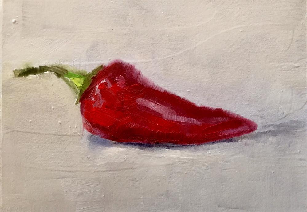 """Red Jalapeno"" original fine art by Gary Bruton"