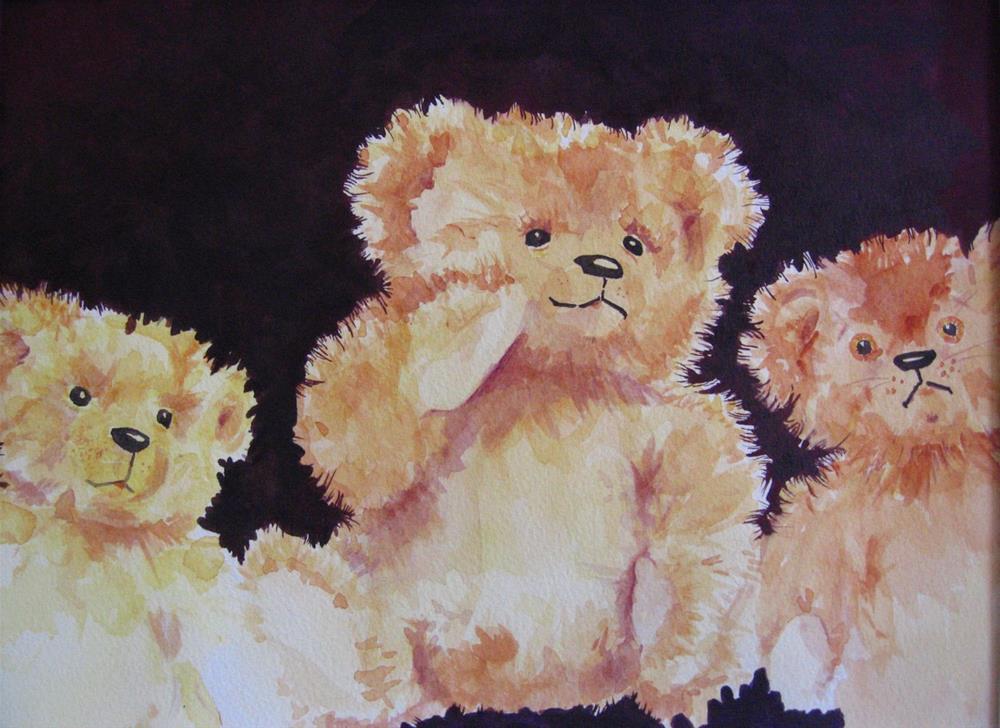 """Hey There, Bears!"" original fine art by Judith Freeman Clark"