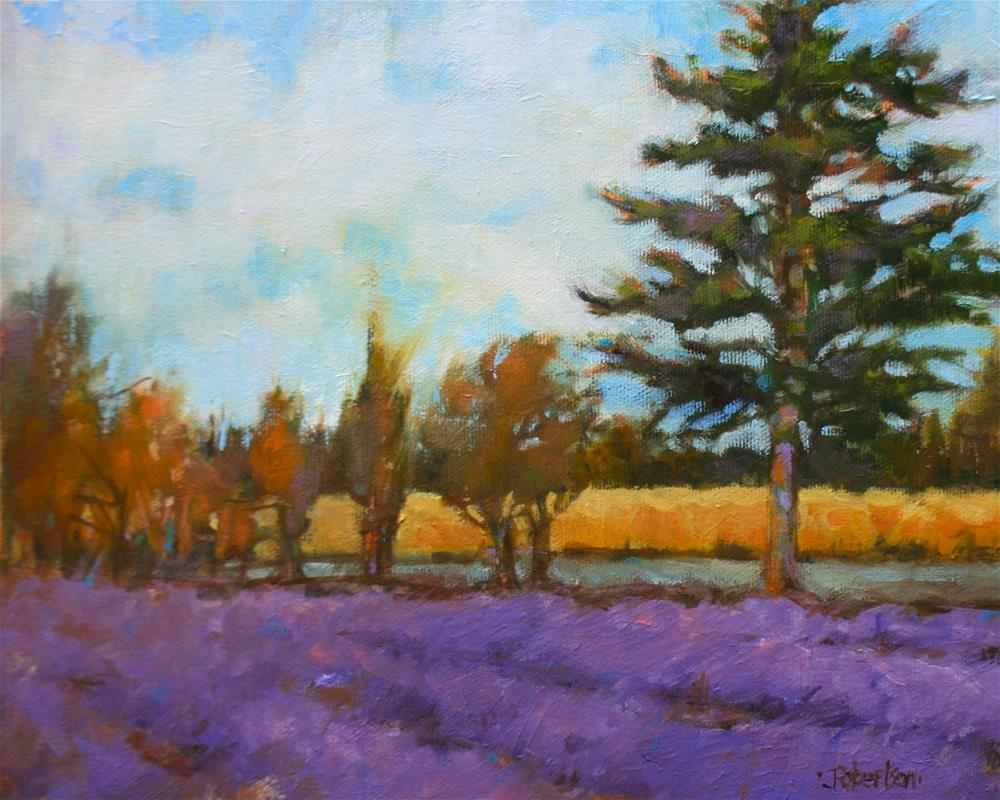 """Provence - Lavender Hunt"" original fine art by Jane Robertson"