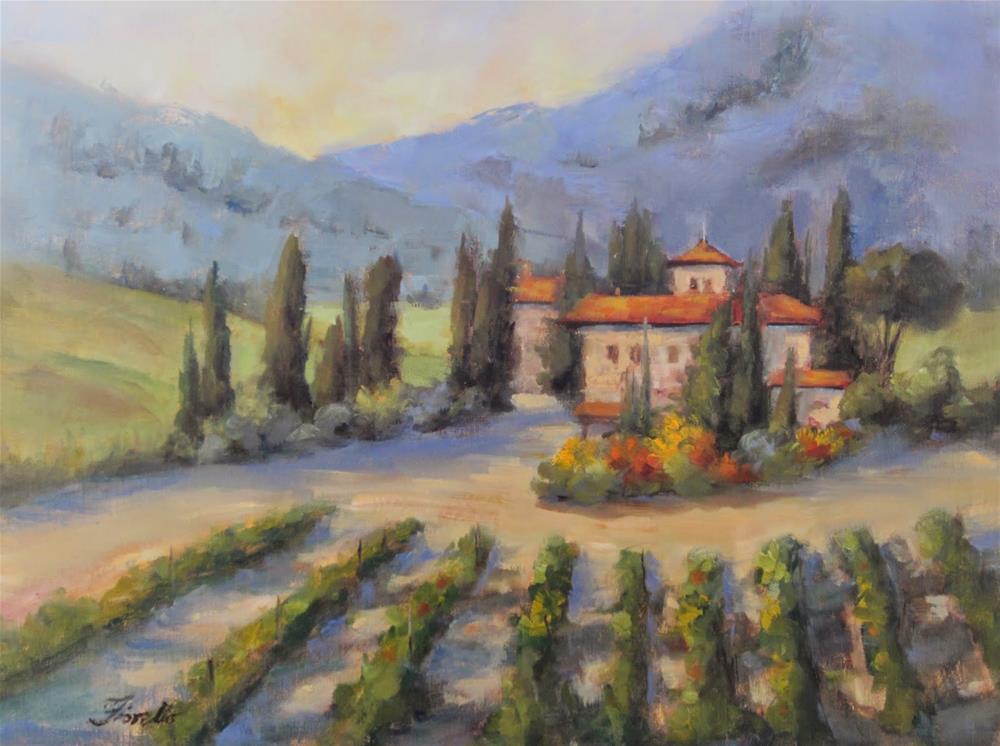 """""""Chianti Classic"""" original fine art by Pat Fiorello"""
