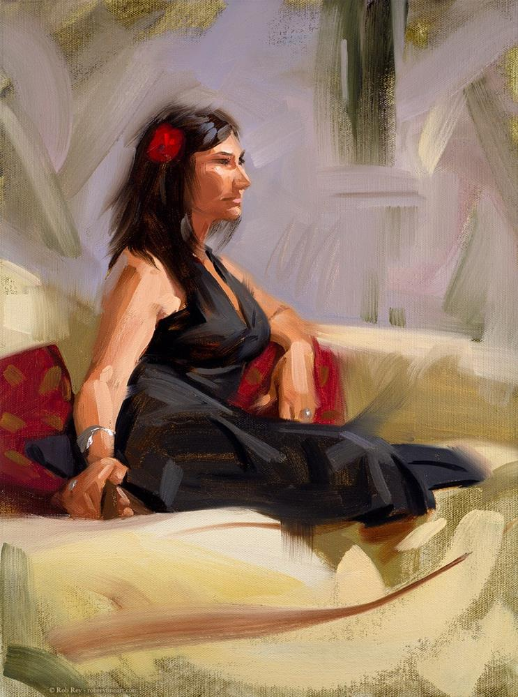 """Spanish Rose"" original fine art by Rob  Rey"