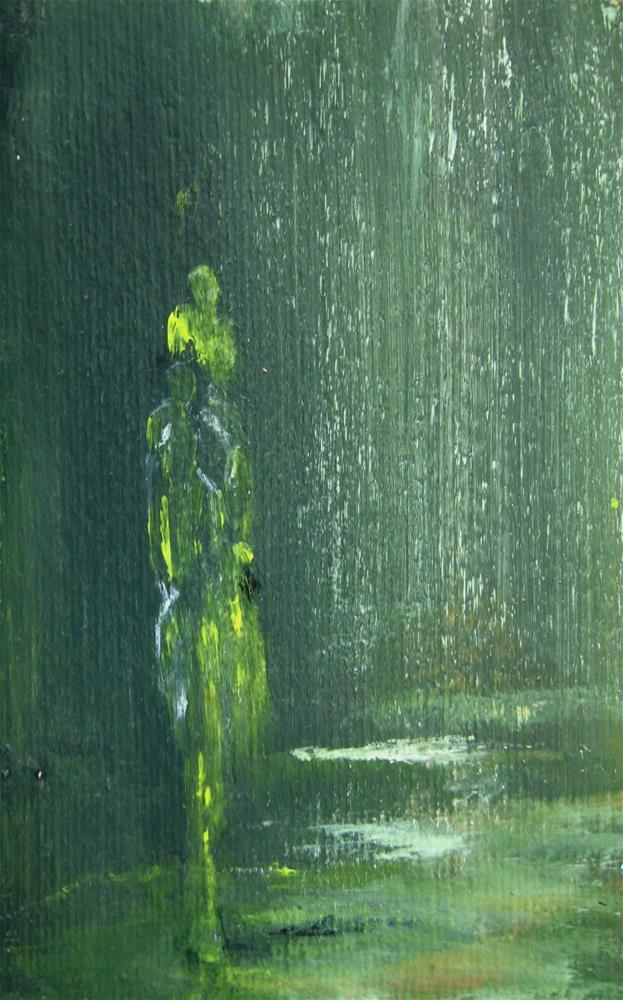 """Lady In The Rain"" original fine art by Alina Frent"