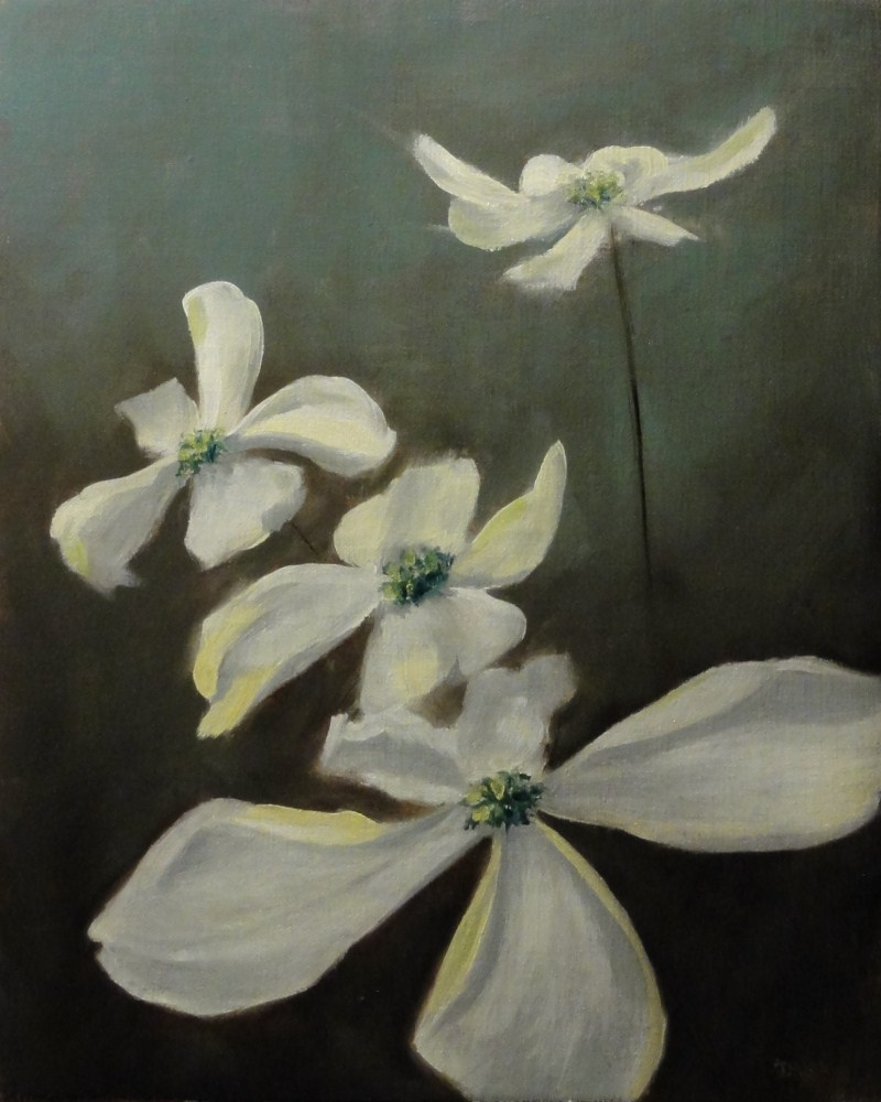 """Dogwood II"" original fine art by Dalan Wells"